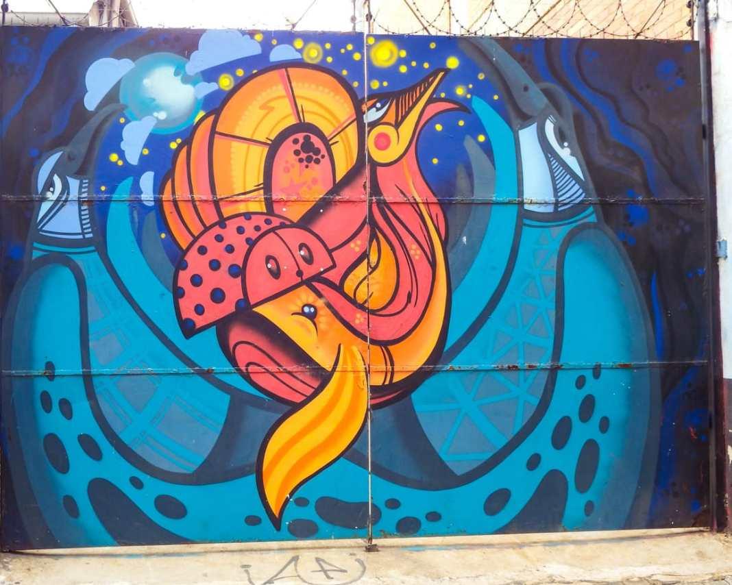 Street art in Johannesburg Mars