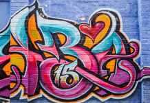 Street art tag Johannesburg
