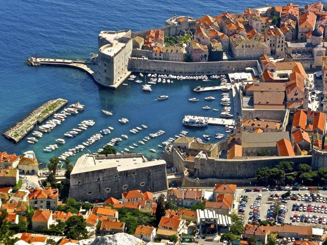 Dubrovnik from Mt Srd