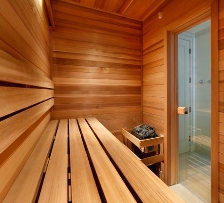 Relaxen in de sauna (Bakhuisje)