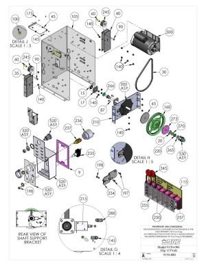 Replacement Parts Diagram  DoorKing 9150 1 HP Parts Diagram