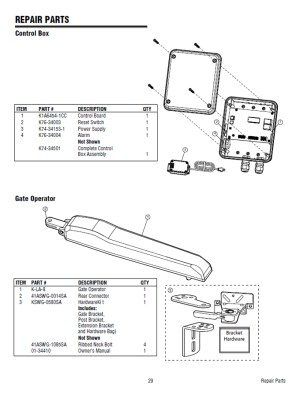 Replacement Parts Diagram  LiftMaster LA400 Parts Diagram