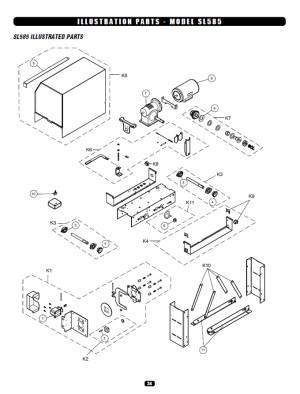 Replacement Parts Diagram  Liftmaster SL585 Parts Diagram