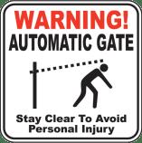 gate opener sign