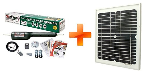 Mighty Mule FM350-SINGLE Gate-Solar Package with Solar Panel (10 Watt Solar Panel)