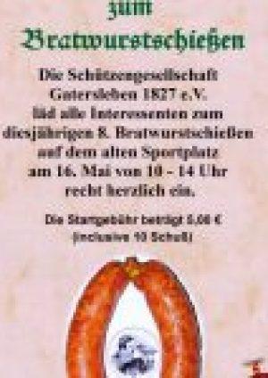 Gatersleben Schützengesellschaft 1827 e.V. Bratwurstschießen Flyer