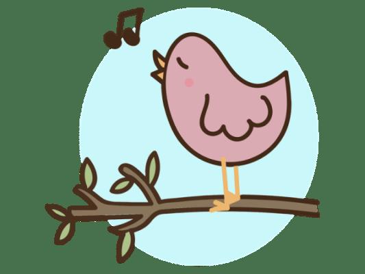 Gatersleben FKZ Singekreis Vogel Musik Note transparent
