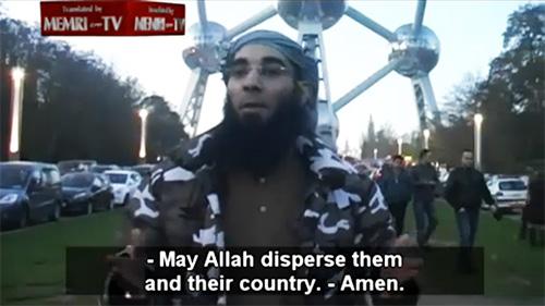 Fouad Belkacem (alias Abu Imran), the leader of Belgian Salafist group Sharia4Belgium. (Image source: MEMRI TV)