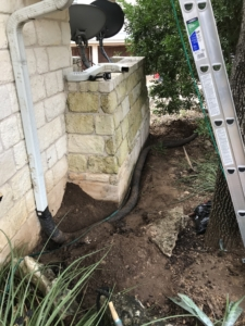 ADS drain pipe dig