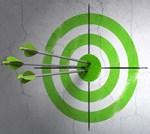 Data accuracy bulls-eye graphic