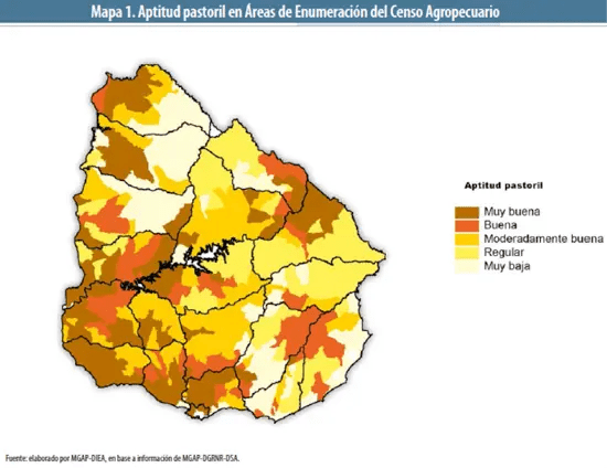 The Current State Of Pastoral Farming In Uruguay - Uruguay map png