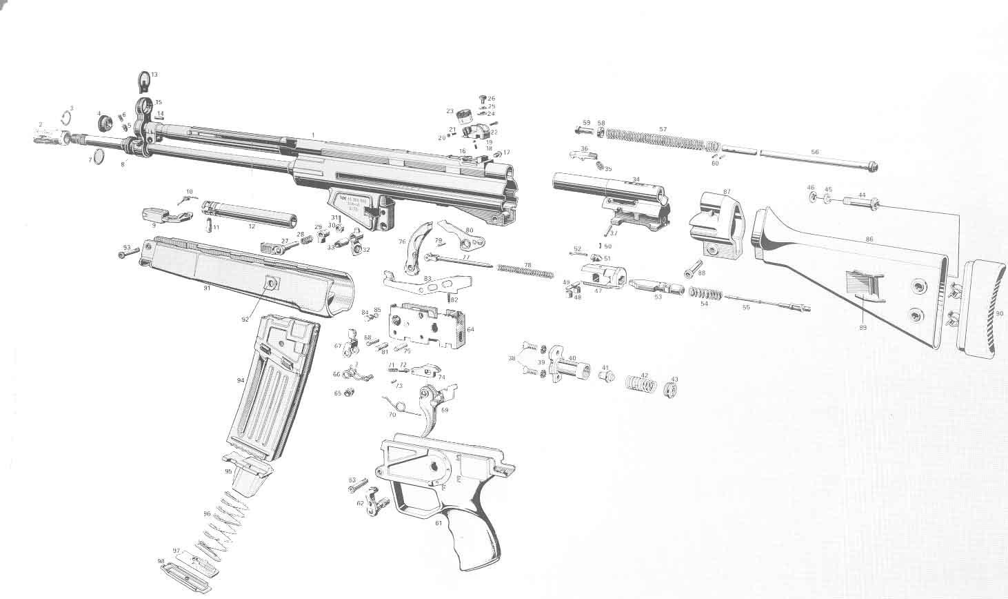Heckler Amp Koch Hk53 Hk93 Hk33 Hk C93 Rifle Parts Kits And