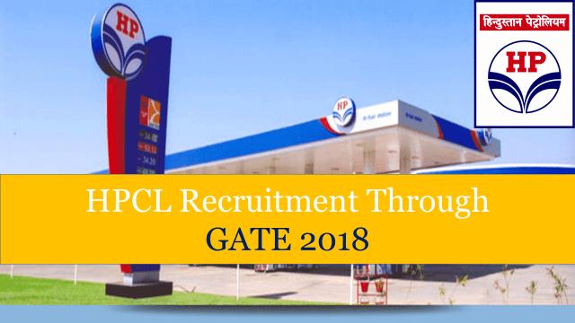 HPCL Recruitment Through GATE 2019