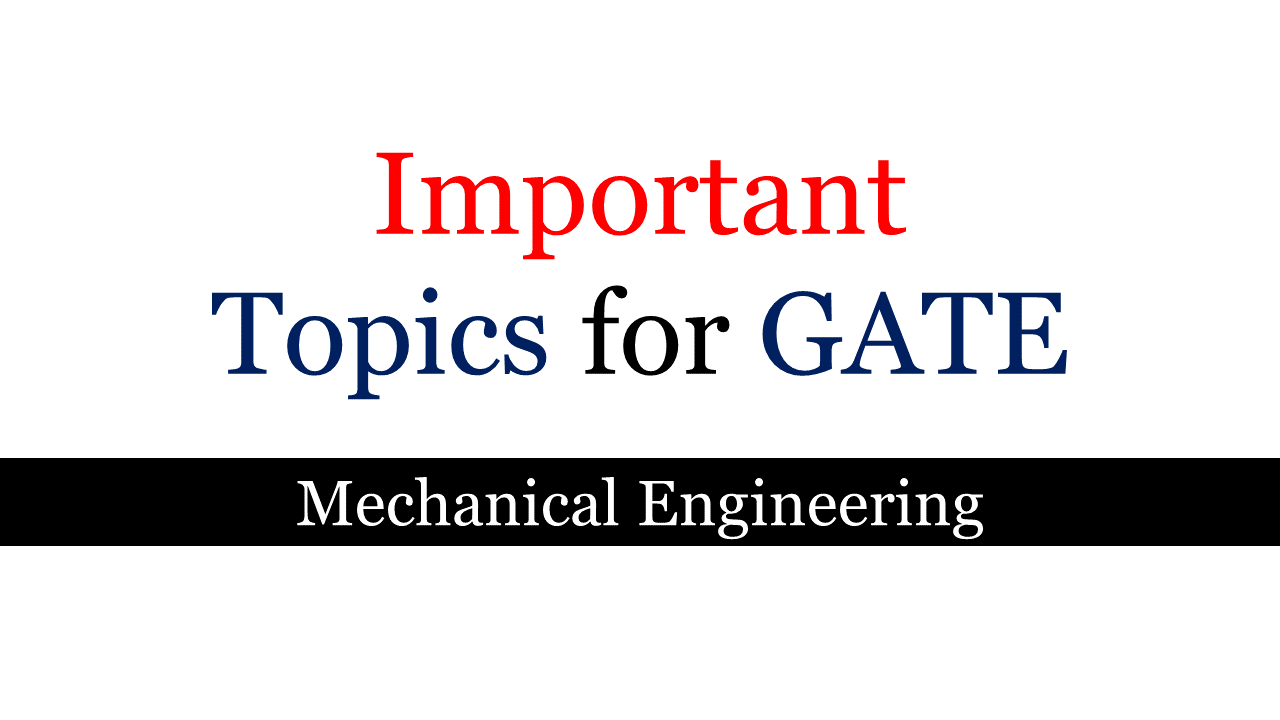 Gate 2019 Result News: Important Topics For GATE Mechanical Engineering 2019