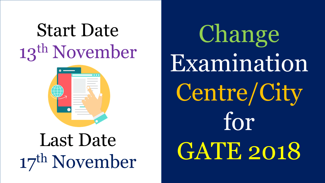 Change Examination City for GATE 2018
