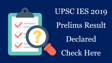 Photo of UPSC IES Prelims Result 2019 Declared