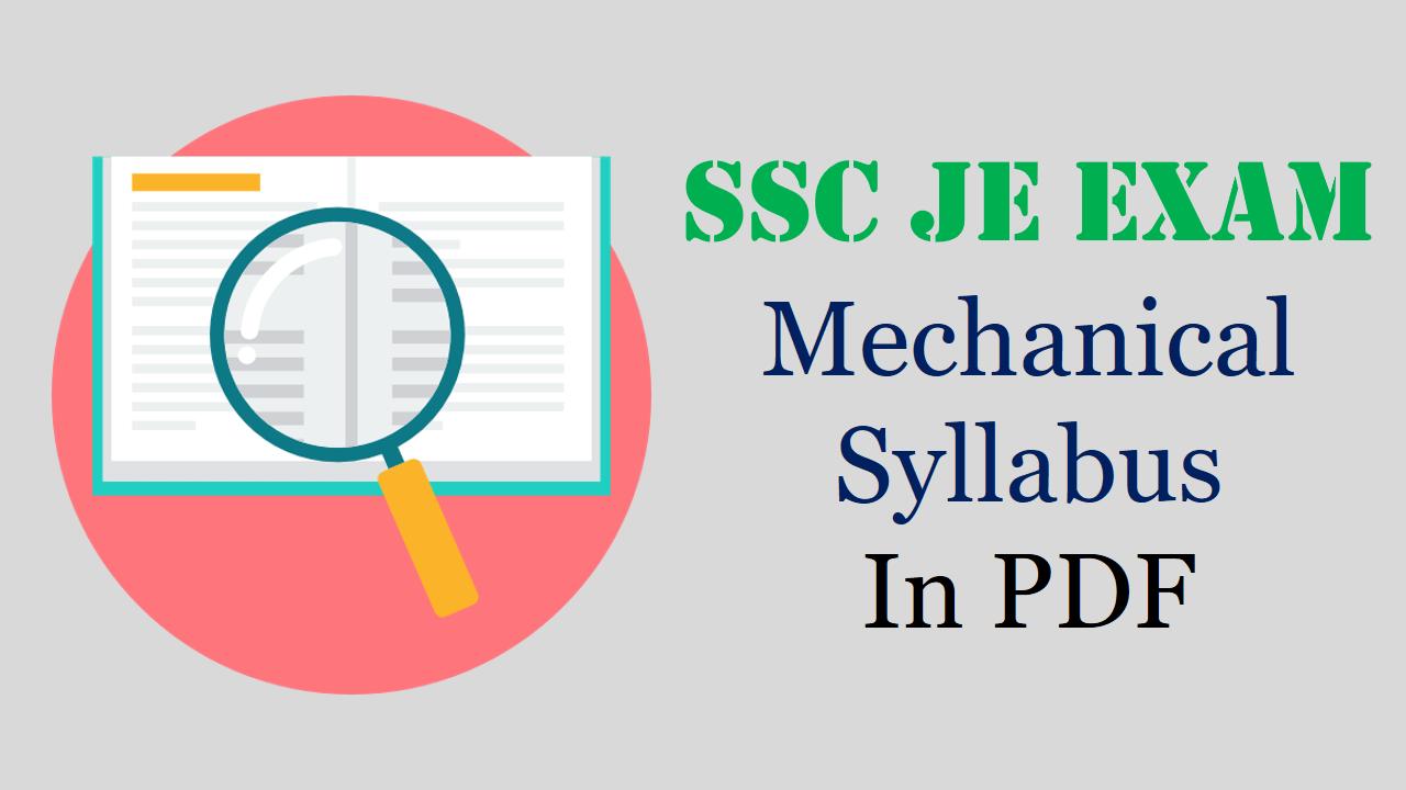 Staff Selection Commission Syllabus Pdf
