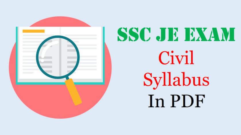 SSC JE Civil Syllabus