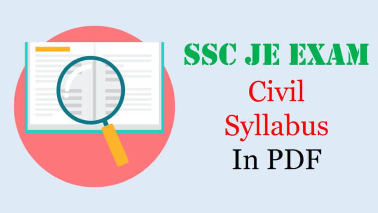 PDF] SSC JE Civil Syllabus 2019-20 with weightage (Paper 1