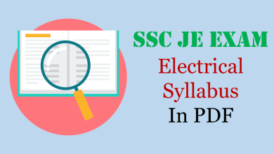SSC JE Electrical Syllabus
