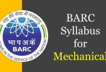 Photo of BARC Syllabus for Mechanical 2020