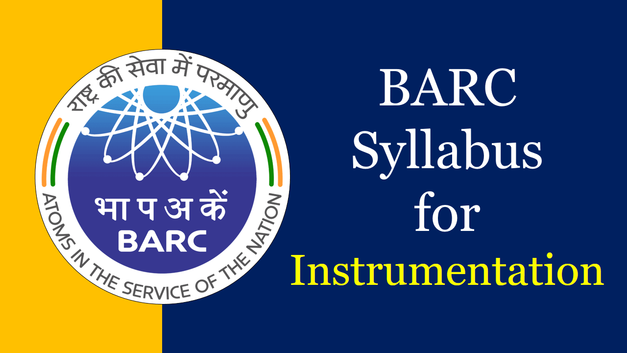BARC Syllabus for Instrumentation
