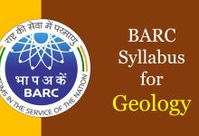 barc syllabus geology