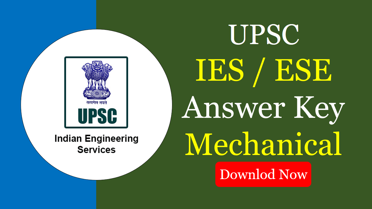 IES 2020 Answer Key mechanical