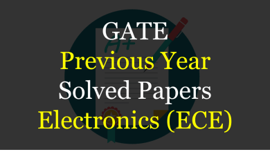 Photo of GATE Previous Year Solved Papers for ECE