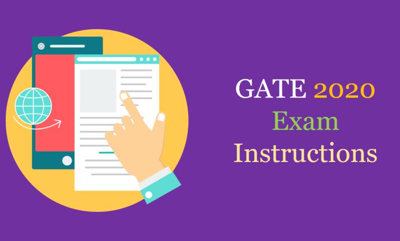 GATE Exam Instructions