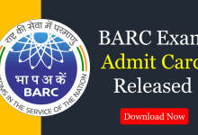 Photo of BARC Admit Card 2020 Released – Download Here