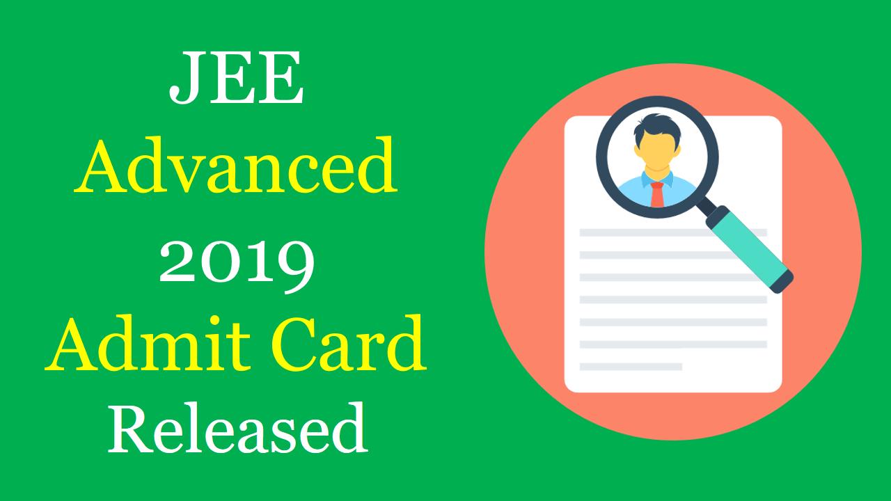 JEE advanced 2019 admit card