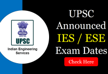 IES 2020 Important Dates