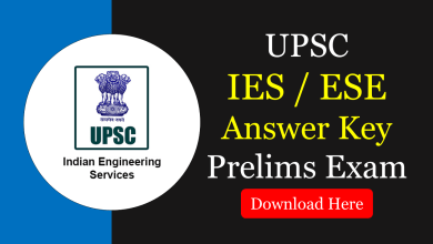 Photo of IES/ESE 2020 Answer Key & Question Papers Solutions (Prelims)