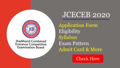 JCECEB 2020 Application Form Started