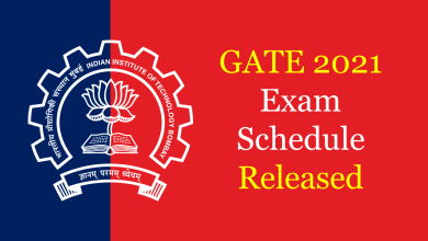 gate 2021 exam schedule