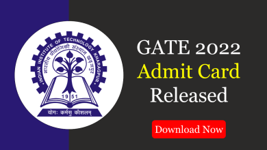 GATE 2022 admit card