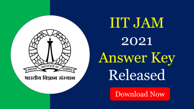 iit jam 2021 answer key