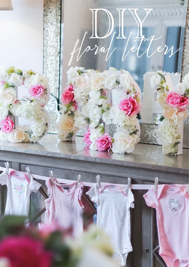 Diy Floral Letters Gather In Grace