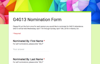G4G13 Nomination Form Thumbnail