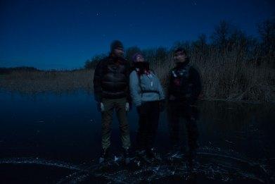Tre på månskenstur
