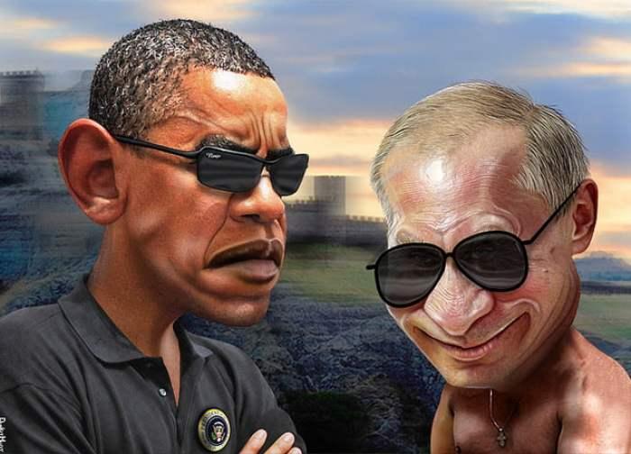 Caricatura de Obama y Putin. Autor: DonkeyHotey