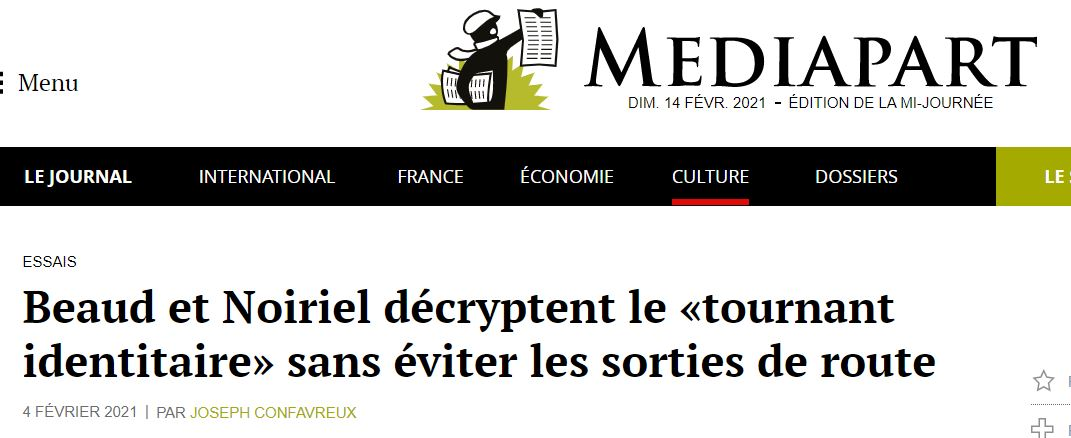 """Read more about the article <span class=""""entry-title-primary"""">Retour à l'envoyeur</span> <span class=""""entry-subtitle"""">A propos d'une recension du livre de Stéphane Beaud et Gérard Noiriel, <em>Race et sciences sociales</em></span>"""