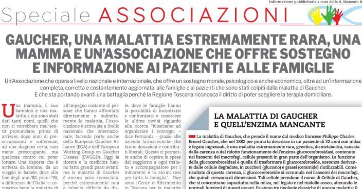 Terapia domiciliare in Toscana: Associazione Italiana Gaucher in prima linea