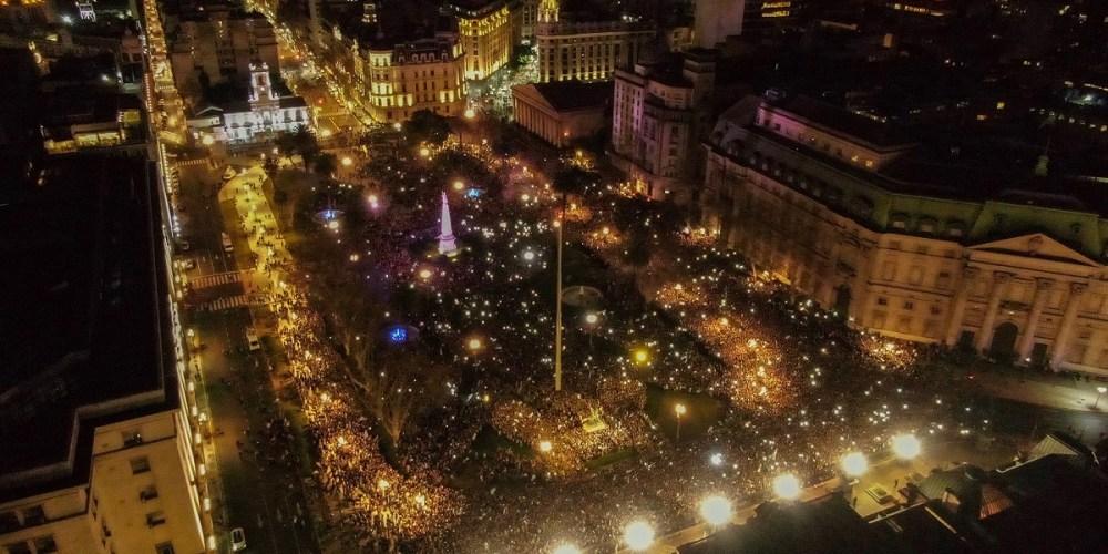 buenos aires argentina manifestazione macri elezioni