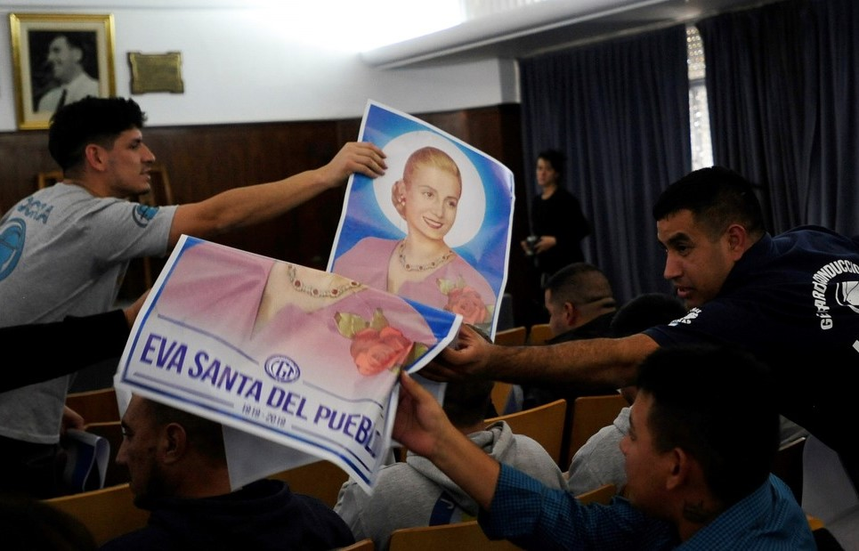 argentina evita peron beata cgt sindacato