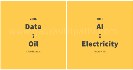 Data is Oil, AI is new electricity