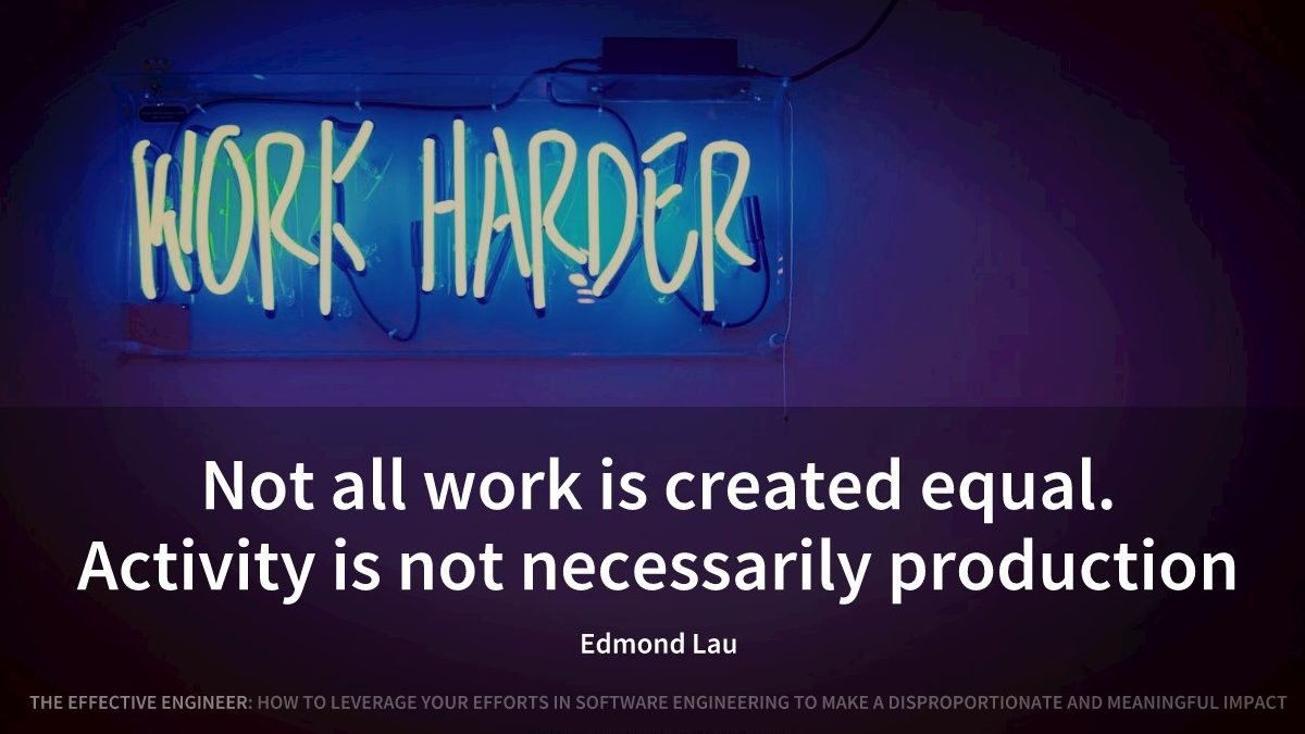 Not all work is created equal