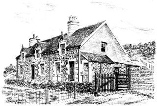 An artist's impression of the original cottages at Gavinburn