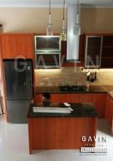 Model Kitchen Set HPL Warna Coklat